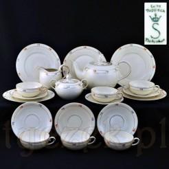 Oryginalny i kompletny zestaw herbaciany dla sześciu osób