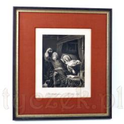 Chora Kobieta na zabytkowym stalorycie W. French Sc.