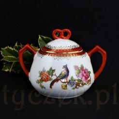 Wytworna cukiernica dla kolekcjonera śląskiej porcelany