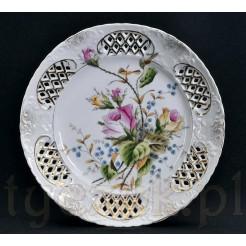 Dekoracyjny talerz ze śląskiej porcelany