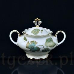 Wyjątkowa i bardzo elegancka cukiernica porcelanowa