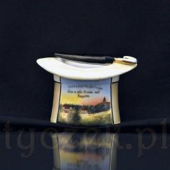 Cylinder porcelanowy będący pamiątką z podróży po Śleży