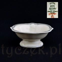 Solniczka na stopce z porcelany Rosenthal Elfenbein