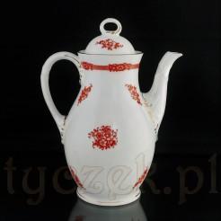 Porcelanowy dzbanek z białej bawarskiej porcelany.