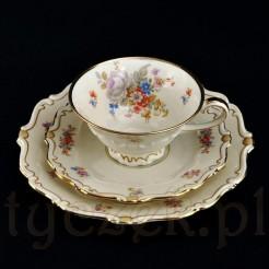 Ekskluzywne trio z żarskiej porcelany ecru marki Sorau