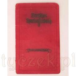 Sprakssenbuch - stara książka oszczędnościowa