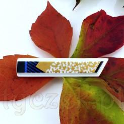 Efektowna spinka do krawata wykonana z białej, szlachetnej porcelany