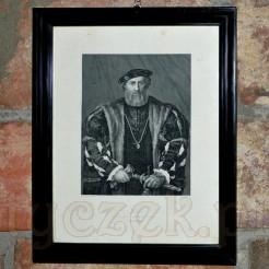 Wspaniały staloryt z wizerunkiem Księcia Mediolanu - Ludovica Sforzy.
