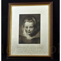 Stara heliograwiura wykonana na podstawie słynnego obrazu Rubensa.