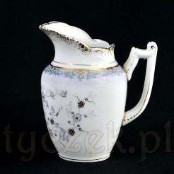 Kolekcjonerski antyczek mlecznik ze śląskiej porcelany niesygnowanej
