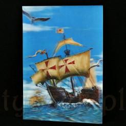 """Cudowna pogoda i błękitne niebo towarzyszy wyprawie znanego statku """"Santa Maria"""""""