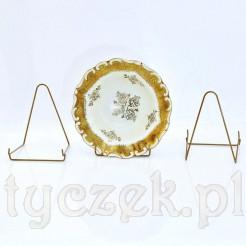 Idealne ekspozytory do porcelany ze złoceniami - komplet 3szt.
