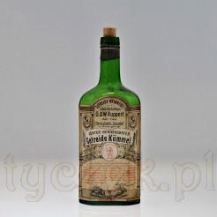 Karkonoski antyk- butelka z etykieta reklamową