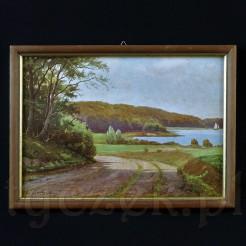 Stylowy pejzaż autorstwa cenionego duńskiego malarza.