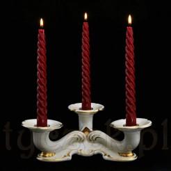 Porcelanowy świecznik ze śląskiej porcelany Tiefenfurt