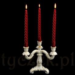 Luksusowy świecznik trójramienny na romantyczny stół