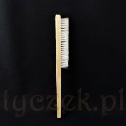 Ręczna szczotka drewniana z włosiem nylonowym