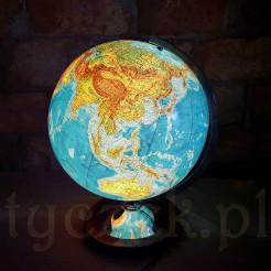Wyjątkowy Glob podświetlany na dizajnerskiej nodze