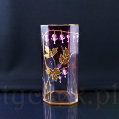 Wyjątkowej urody wazon zabytkowy z malaturą fuksji