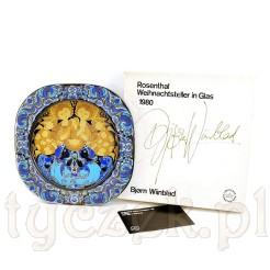 Cudowny egzemplarz zapakowany został w oryginalne pudełko wraz z certyfikatem Rosenthal von Bjorn Wiinblad