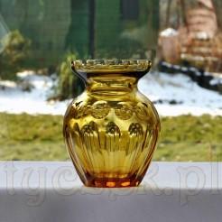 Niezwykły szklany wazon w kolorze miodowym