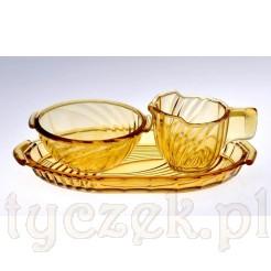 miodowy szklany komplecik