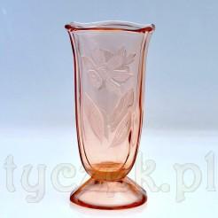 Dekoracyjny wazon ze szkła łososiowego