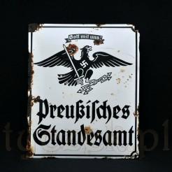 Zabytkowy szyld urzędowy z czasów Trzeciej Rzeszy - II Wojna Światowa