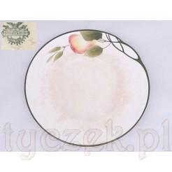 Secesyjny motyw z gruszkami na ceramicznym talerzu