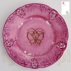 Porcelanowy talerz marki Rosenhal z monogramem
