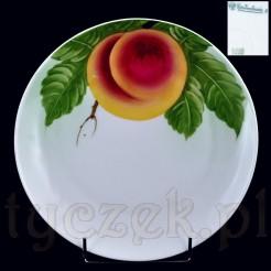 Malowana brzoskwinia -zdobiony talerz
