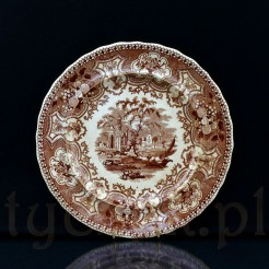 Niezwykle rzadki eksponat z angielskiej ceramiki zdobiony wzorem Australia