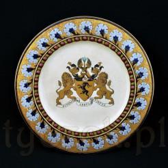 Dekoracyjny talerz ceramiczny z herbem