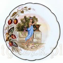 Porcelanowy talerz wykonany we Francji