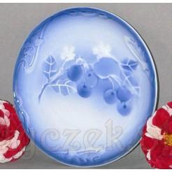 Biało niebieski talerz - antyk do dekoracji i kolekcji