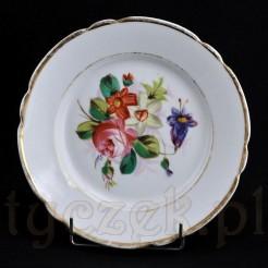 Porcelanowy talerz dekoracyjny z XIX wieku
