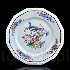 Ozdobny porcelanowy talerz z rajskim ptakiem z 1933 roku