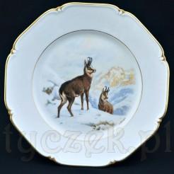 Porcelanowy talerz obiadowy z myśliwskiej serii