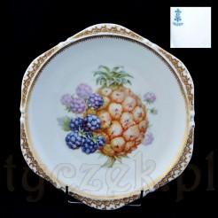 Markowy talerz z owocami z wytwórni H. Ohme Silesia