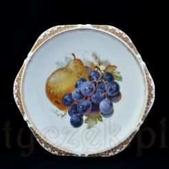 Kolekcjonerski talerz owocowy Silesia z lat 1900 - 1920