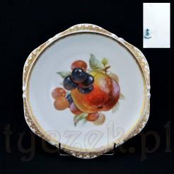 Ekskluzywny talerz z wytwórni Ohme Silesia z motywem czereśni i jabłka