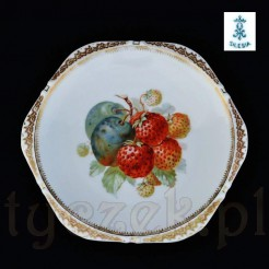 Ohme markowy talerz śląski z owocami sygnowany SILESIA