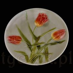 Majolikowy talerz ozdobny z okresu Secesji
