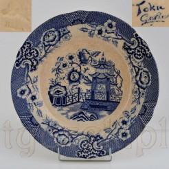 Ceramiczny talerz w typie orientalnym sygnowany