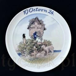 Ostern 1924 - dekoracyjny talerz porcelanowy z Selb
