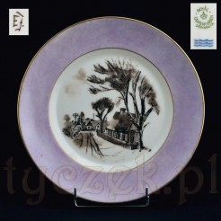 Kolekcjonerska porcelana Kopenhaga Dania - talerz malowany