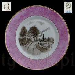 Obraz malowany na porcelanie - ozdobny talerz Royal