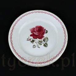 Efektowny talerz dekoracyjny z francuskiej ceramiki w kolorze kremowym