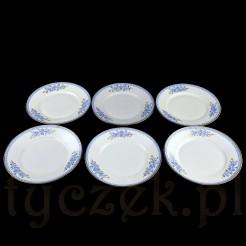 Komplet składa się z sześciu sztuk płaskich talerzy obiadowych