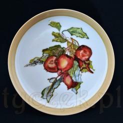 Ręcznie malowany talerzyk porcelanowy